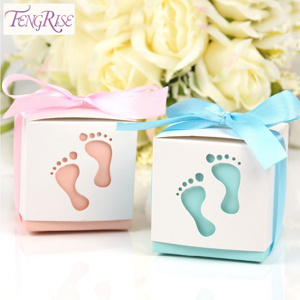 FENGRISE 10pcs Baby Shower Candy Boxes Birthday Party Wedding Favors ...