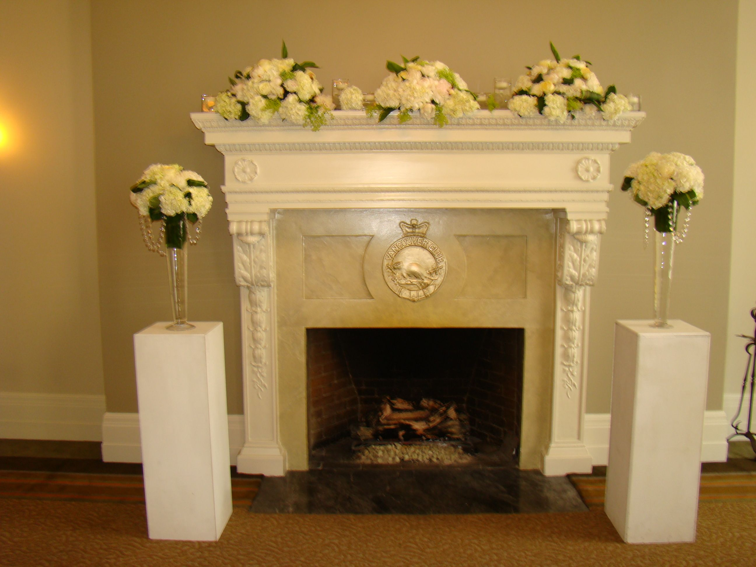 Mantle Wedding Decorations - Wedding Gallery Billies Flower House -