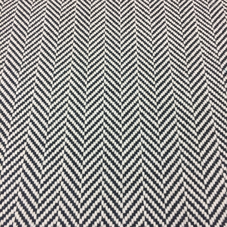 Best Black And White Herringbone Flatweave Stairrunner In 100 400 x 300