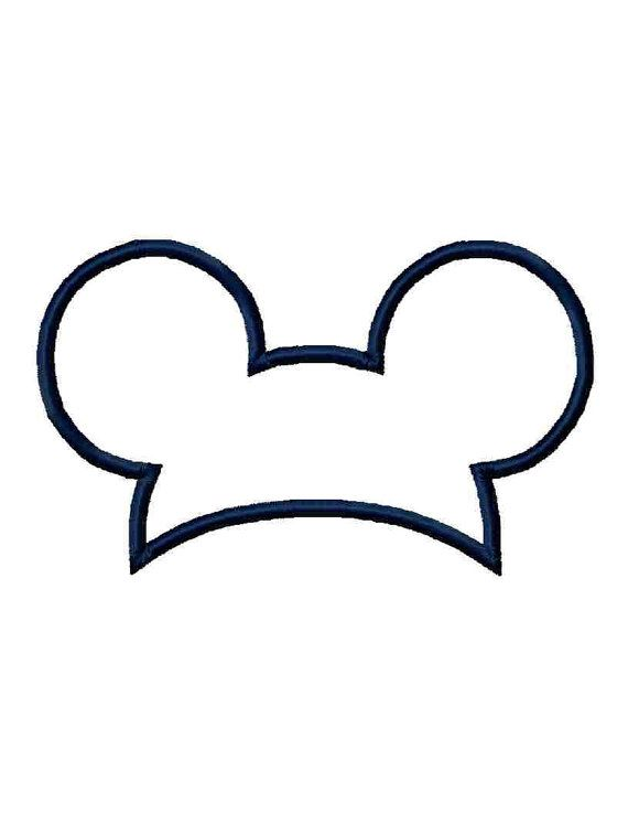 instant download mouse ears hat applique by institchesembroidery rh pinterest co uk