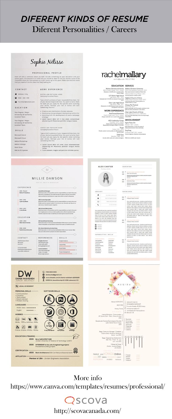 Here You Can Find Different Kinds Of Resume To Create Yours