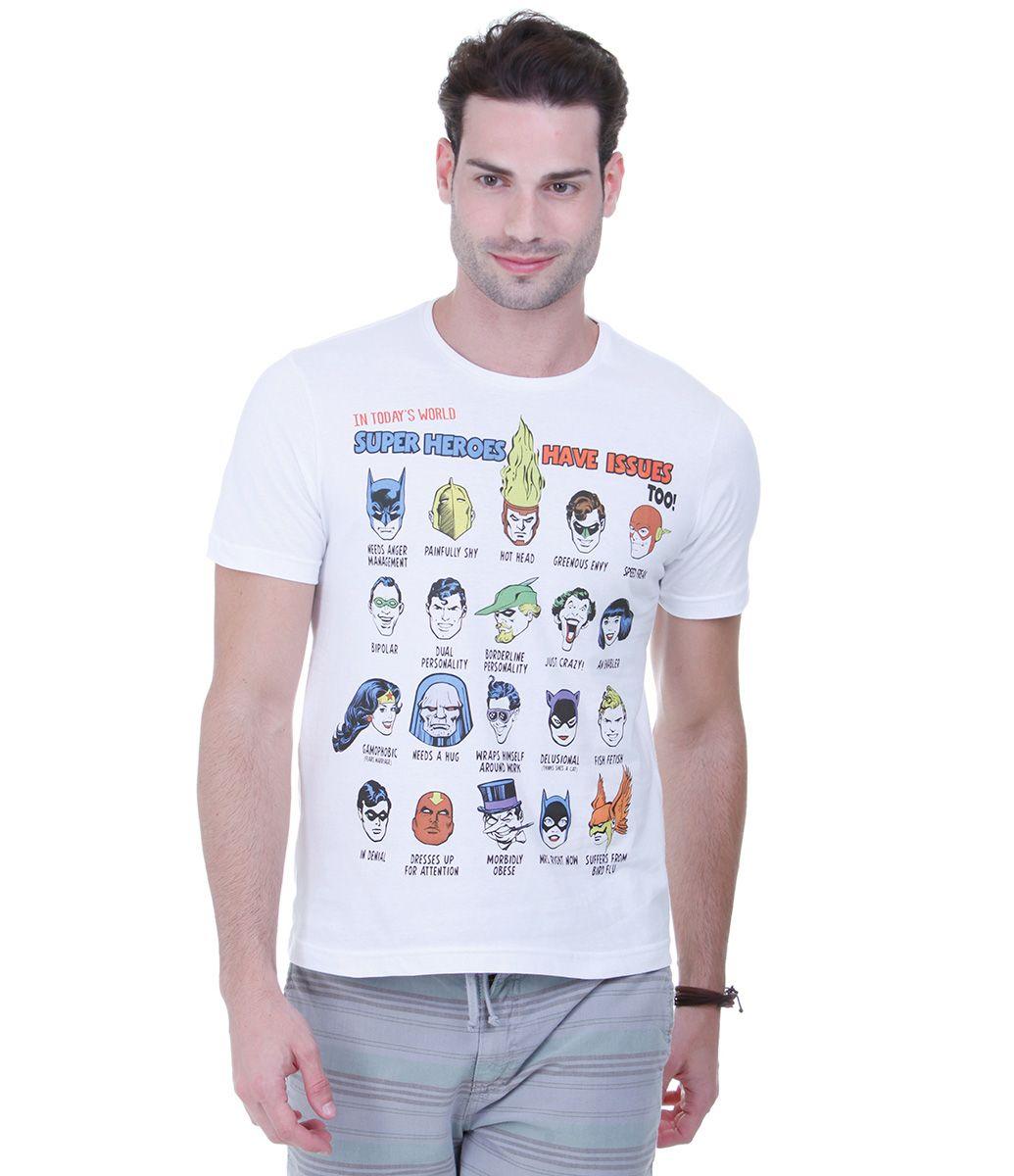 2f7c6eb28 Camiseta Masculina com Estampa de Super-Heróis - Lojas Renner ...