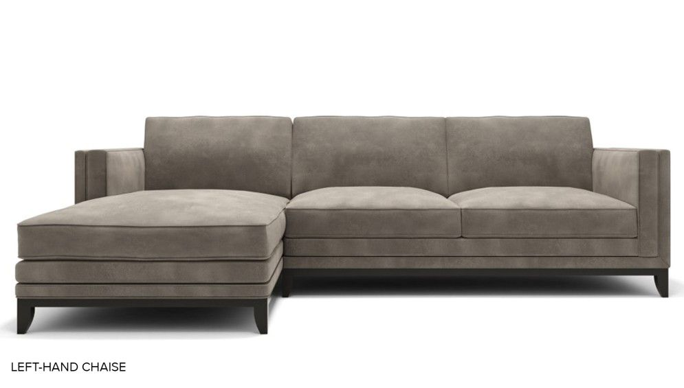 Meadway L Shaped Sofa Left Hand Chaise Fabric L Shaped Sofa