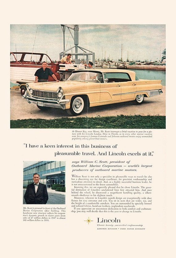 VINTAGE LINCOLN CAR Ad – Classic Car Poster, Old Car Ad, Retro Car Print, Vintage Lincoln Car, Garage Wall Art, Car Collector, Classic Car