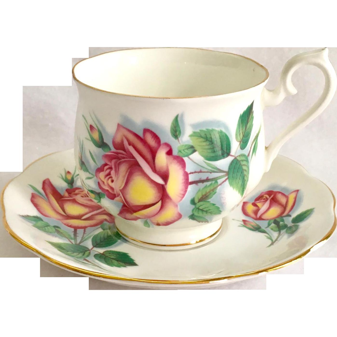 Royal Albert Bone China Sweetheart Roses Series Anne Teacup And  ~ Tazas Para Infusiones El Corte Ingles