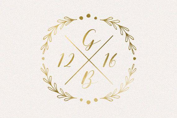 Wedding Monogram Logo Diy Von Thefabledpapery