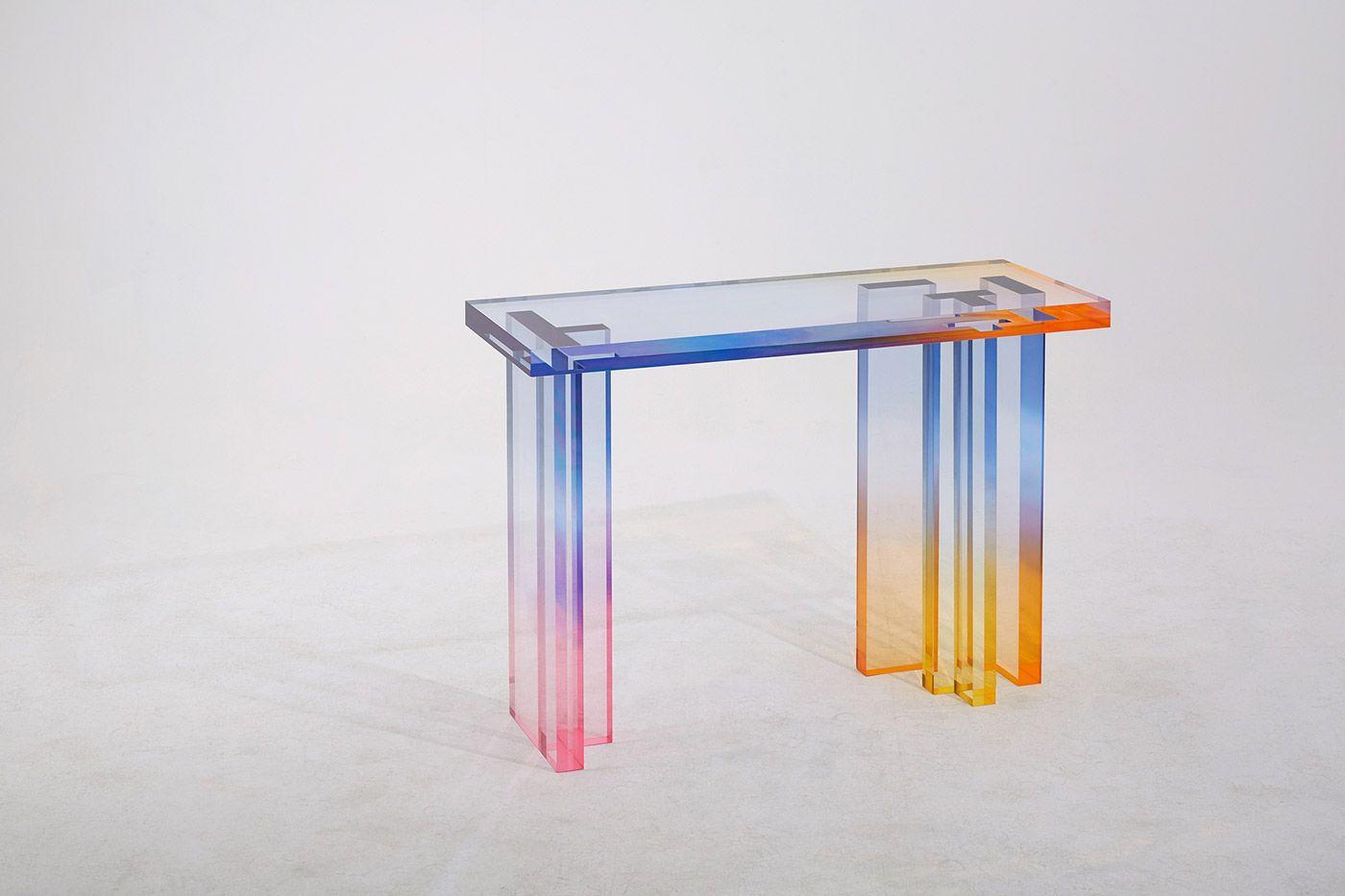 Colourful Glass Tables Mindsparkle Mag Acrylic Furniture Design Glass Table Glass Furniture [ 933 x 1400 Pixel ]