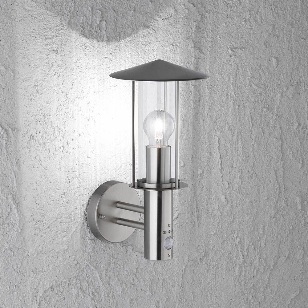 Aussen Wandlampe Modern Mit Bewegungssensor Und Einer Hohe Von 34 Cm Led Led Leuchten Wohnen Lampen Leuchten Wandlampe Lampe Led Leuchten