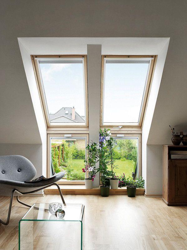 VENTANAS A CIELO ABIERTO Las ventanas para tejado inclinado transforman una buhardilla oscura en un espacio habitable con luz natural vent