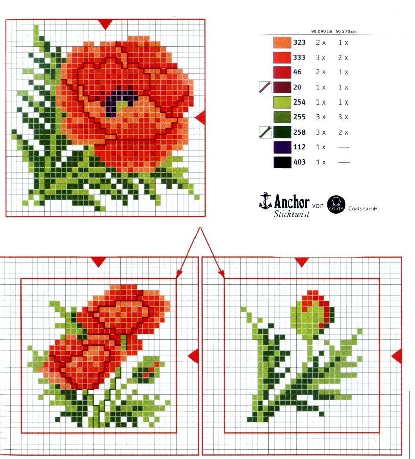 schema+papavero+a+punto+croce+con+bocciolo.jpg 813×900 piksel
