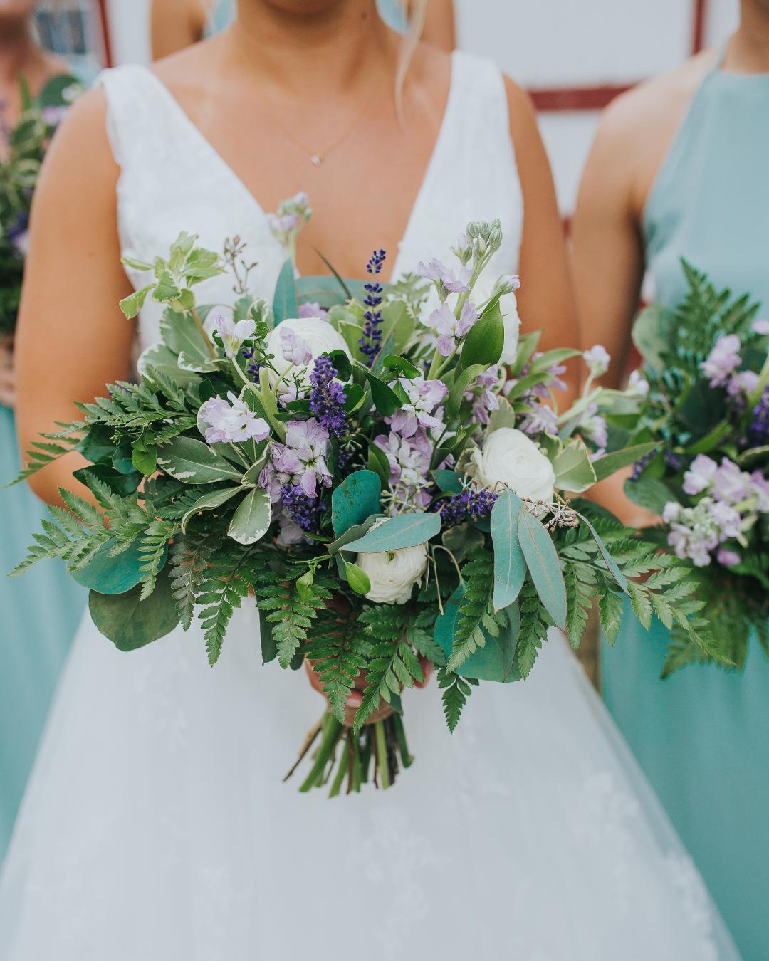 12 Heads Artificial Lavender Flower Leaves Bouquet Home Garden Wedding Decor Ff