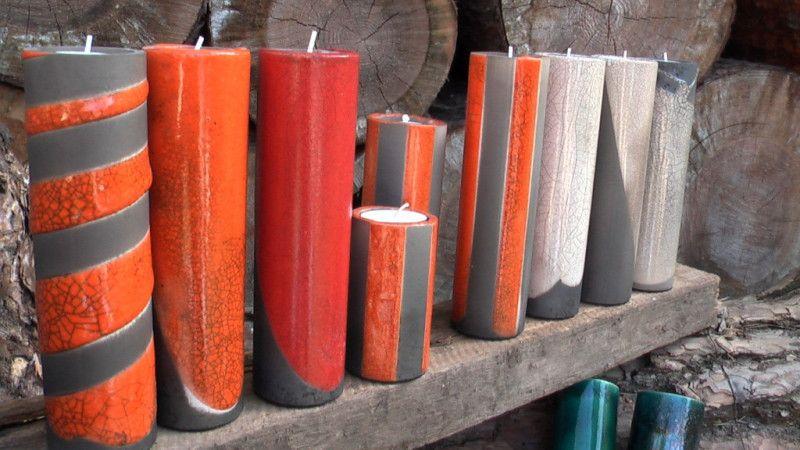 VM Keramik Lehnitz - Leuchter - Raku
