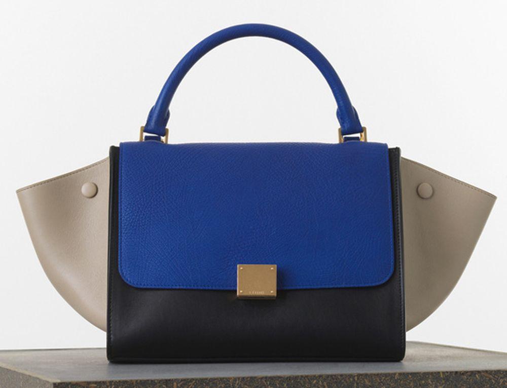 4190c3cf03e6 Céline Medium Trapeze Bag in Tricolor Elephant Calfskin $3,100 ...