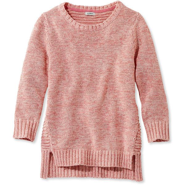 L.L.Bean Women's Marled Tape-Yarn Sweater, Three-Quarter-Sleeve ...