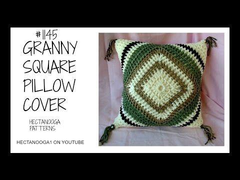 Crochet Pattern Modern Granny Square Pillow Double Crochet Granny