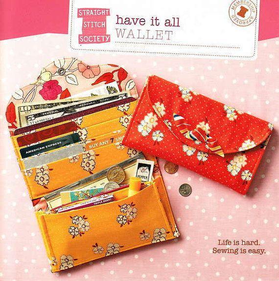 PATTERN: Have It All Wallet | Brieftaschen, Muster und Handarbeiten