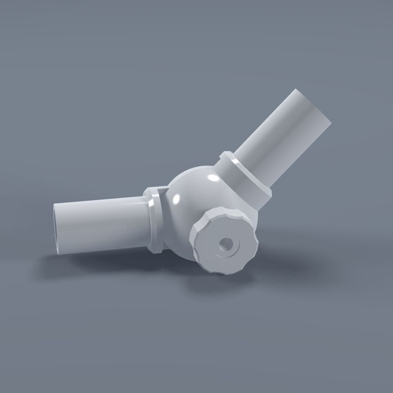 1-1/4  Adjustable PVC Elbow Fitting - Furniture Grade & 1-1/4