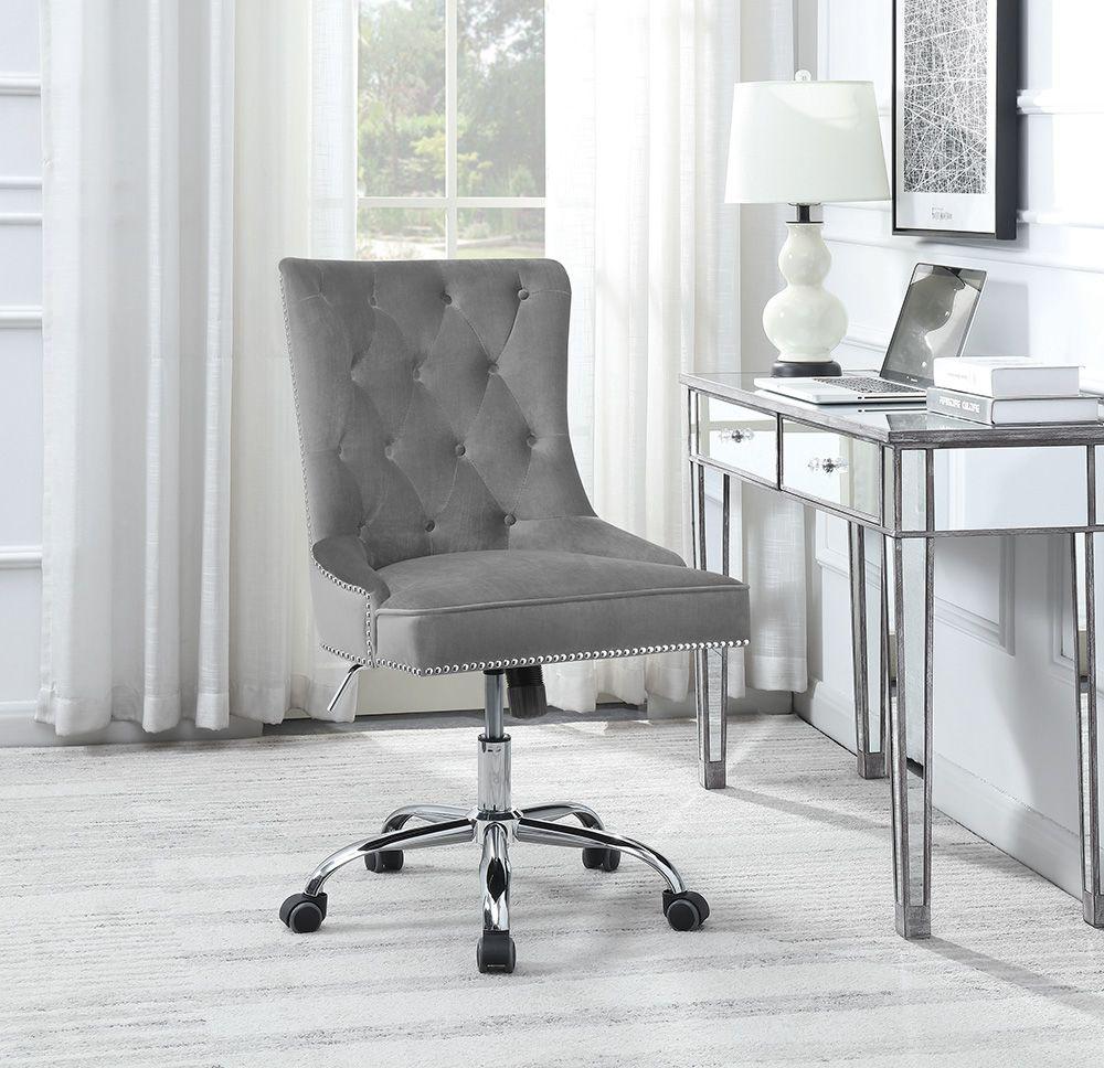 Coaster CS994 Gray Velvet Computer / Office Chair
