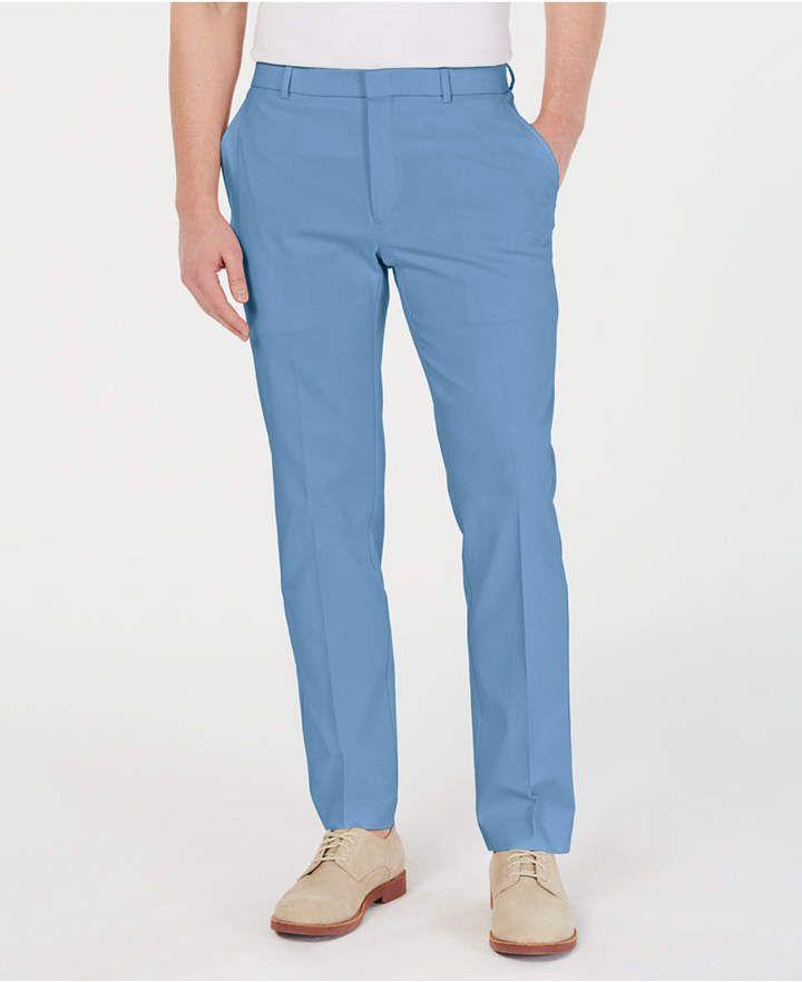 97f3ab281b7883 Tommy Hilfiger Men Modern-Fit Th Flex Stretch Comfort Solid Dress Pants