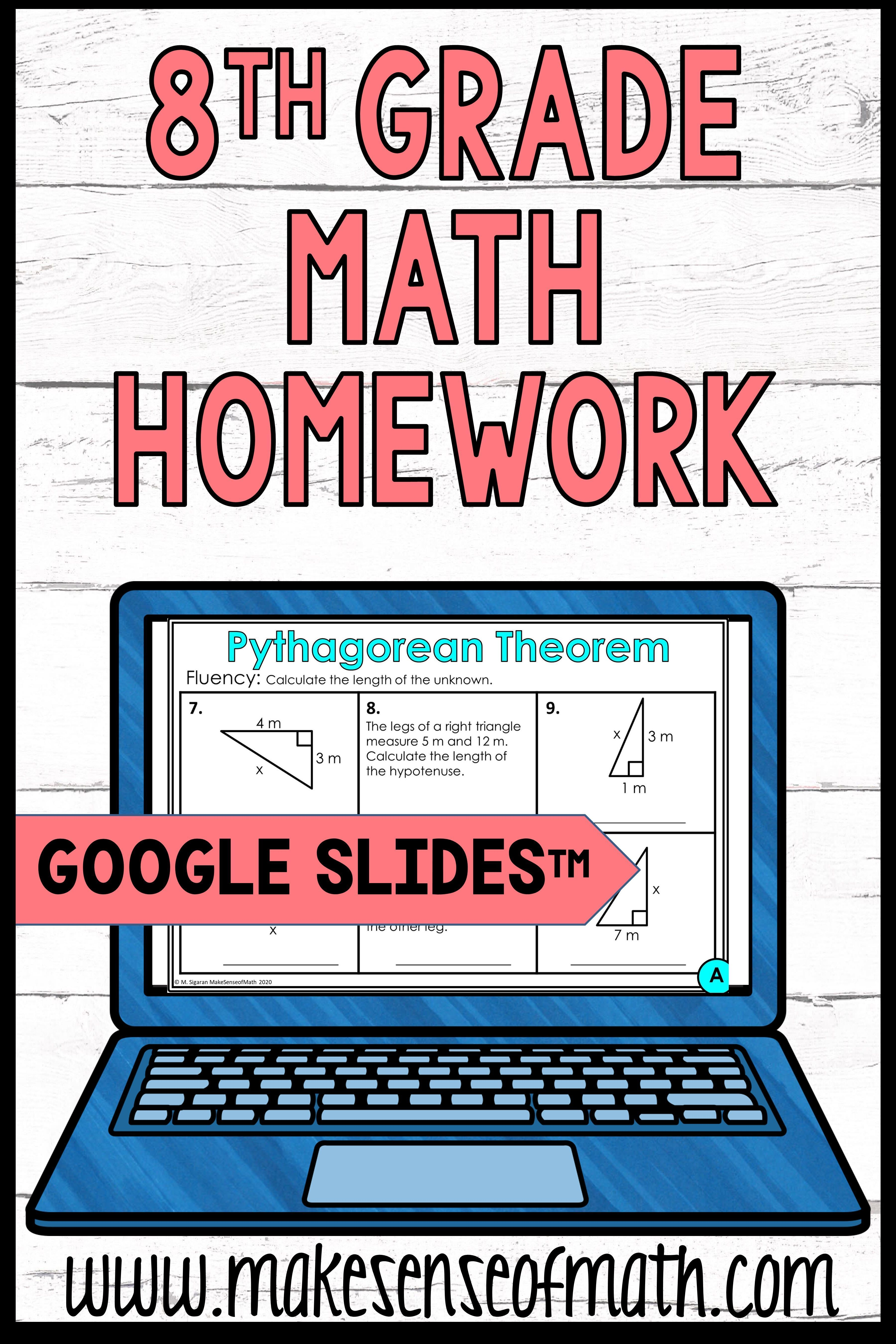 8th Grade Math Homework Digital In 2021 Math Homework 8th Grade Math Maths Activities Middle School [ 5400 x 3600 Pixel ]