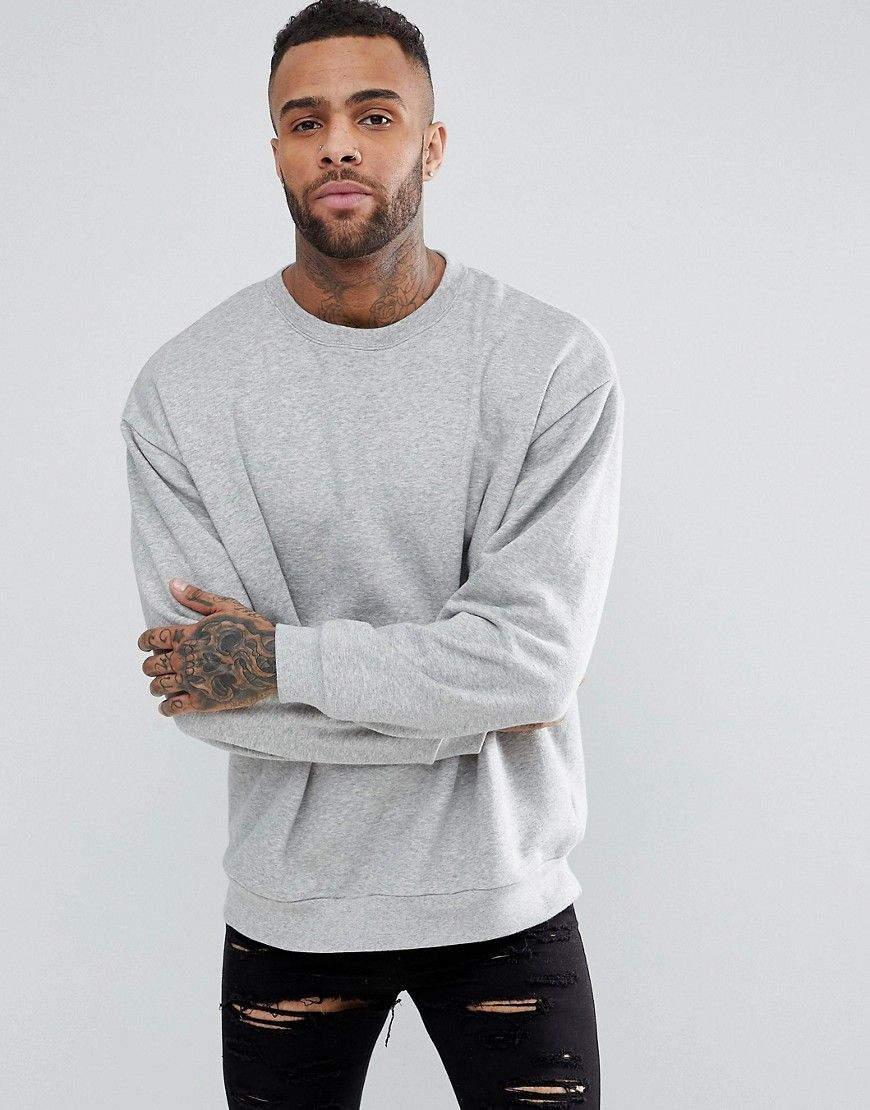Get This Asos S Hooded Sweatshirt Now Click For More Details Worldwide Shipping Asos Oversi Mens Sweatshirts Hoodie Grey Sweatshirt Mens Stylish Hoodies Men [ 1110 x 870 Pixel ]