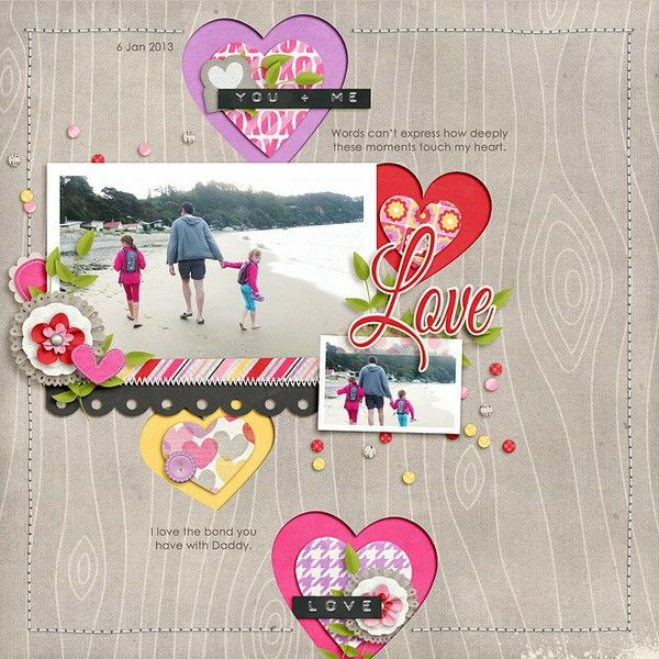 1 photo + hearts + cutouts
