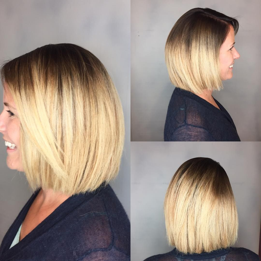 Blunt Blonde Bob with Textured Ends and Front Layers - The Latest
