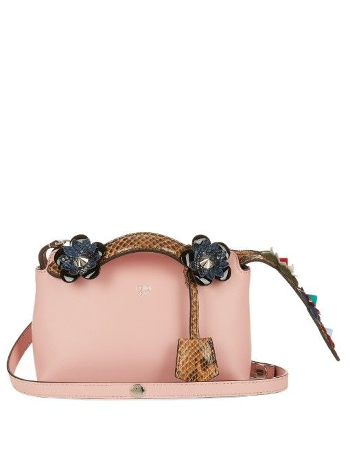 319e82348f9d Fendi By The Way mini flower-appliqué cross-body bag
