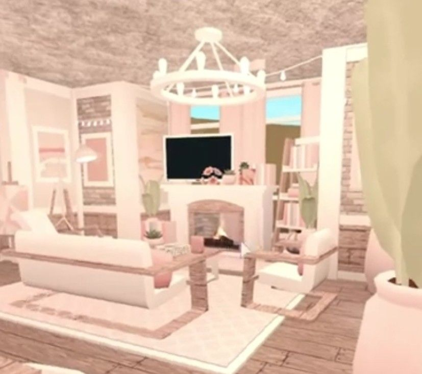 Aesthetic Bloxburg Living Room In 2021 House Color Palettes House Inspo House Colors Living room aesthetic bloxburg house