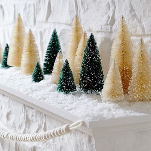 Bottle Brush Trees West Elm Holiday Decor Christmas Mini Christmas Tree Bottle Brush Trees
