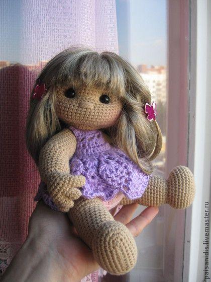 Человечки ручной работы. Ярмарка Мастеров - ручная работа Вязаная куколка Мариша. Handmade.