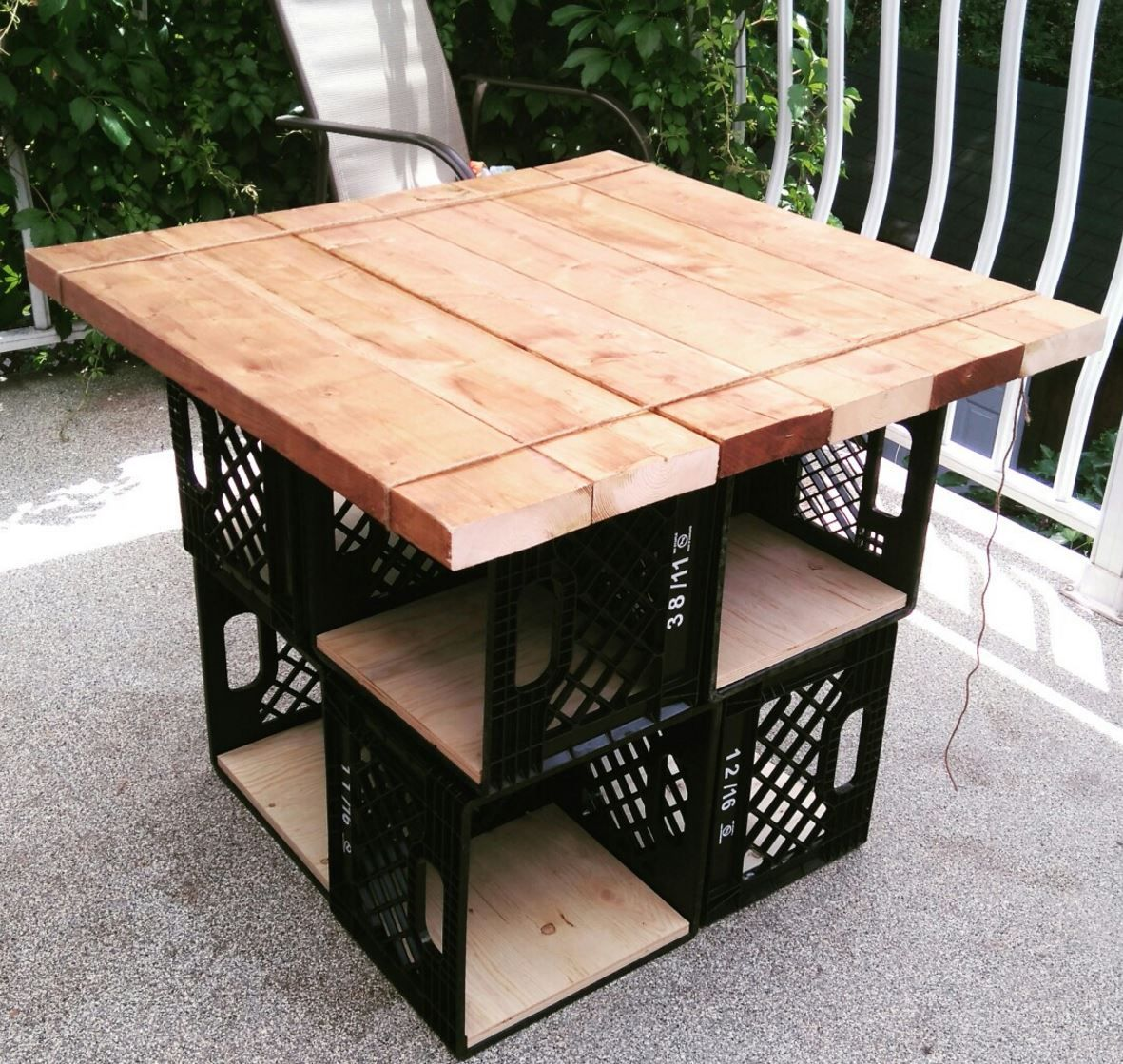 Cratetable Milk Crate Furniture Crate Furniture Milk Crates Diy