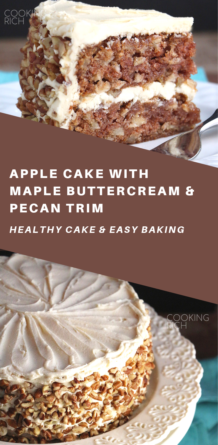 Apple Cake With Maple Buttercream And Pecan Trim Cooking