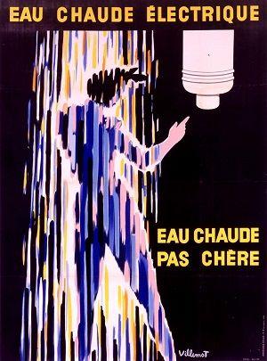 100 Ans D Histoire De L Electricite En 10 Affiches Affiche Retro Affiche Imprimee Affiche Vintage