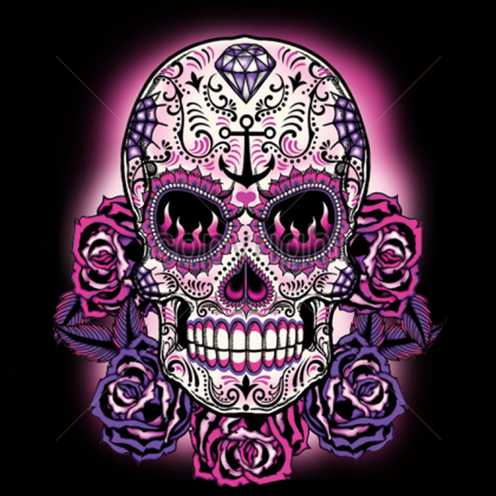 Pink Sugar Skull Womans Short Sleeve T Shirt Day of the