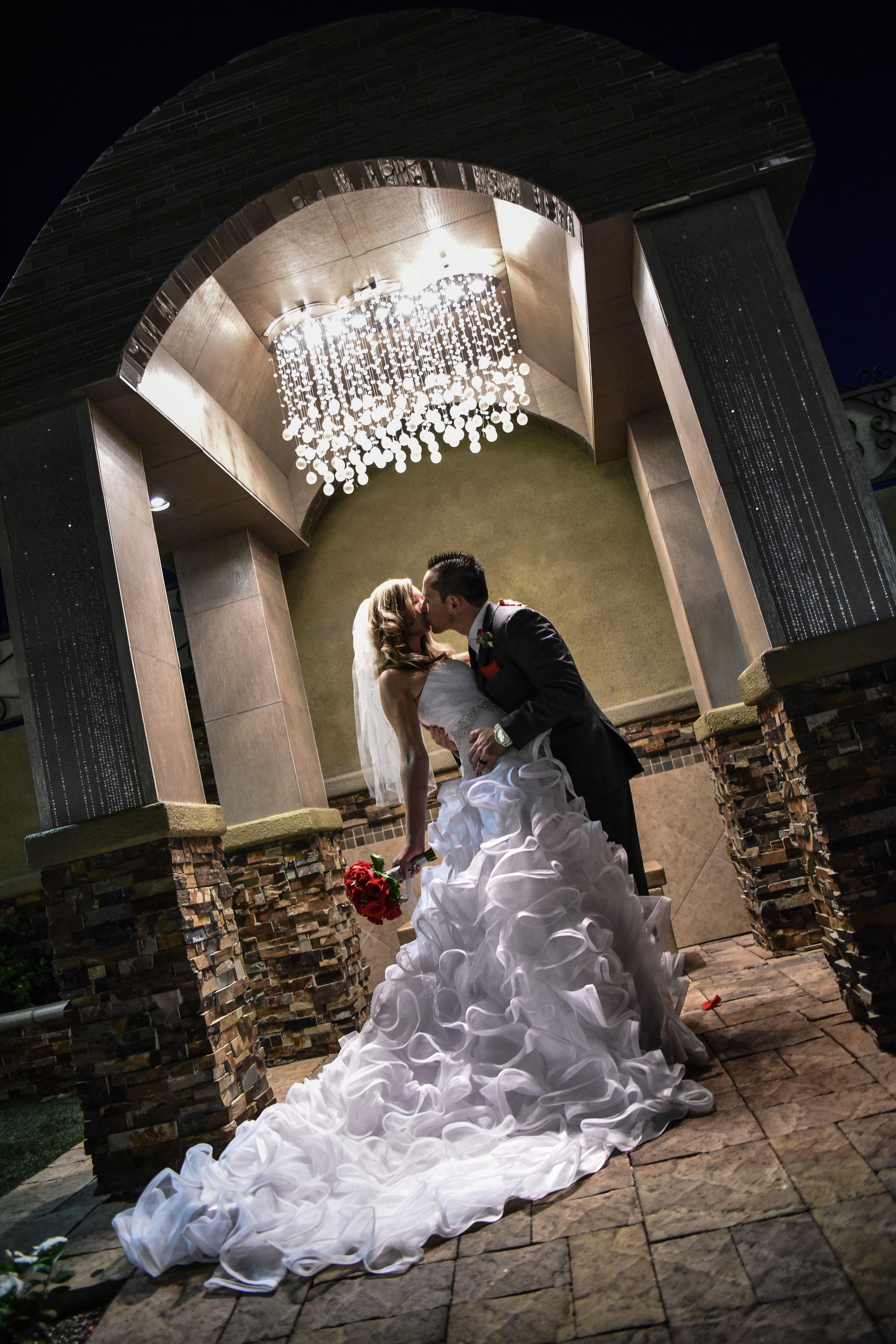 Design wedding dress at elegant wedding chapel in las