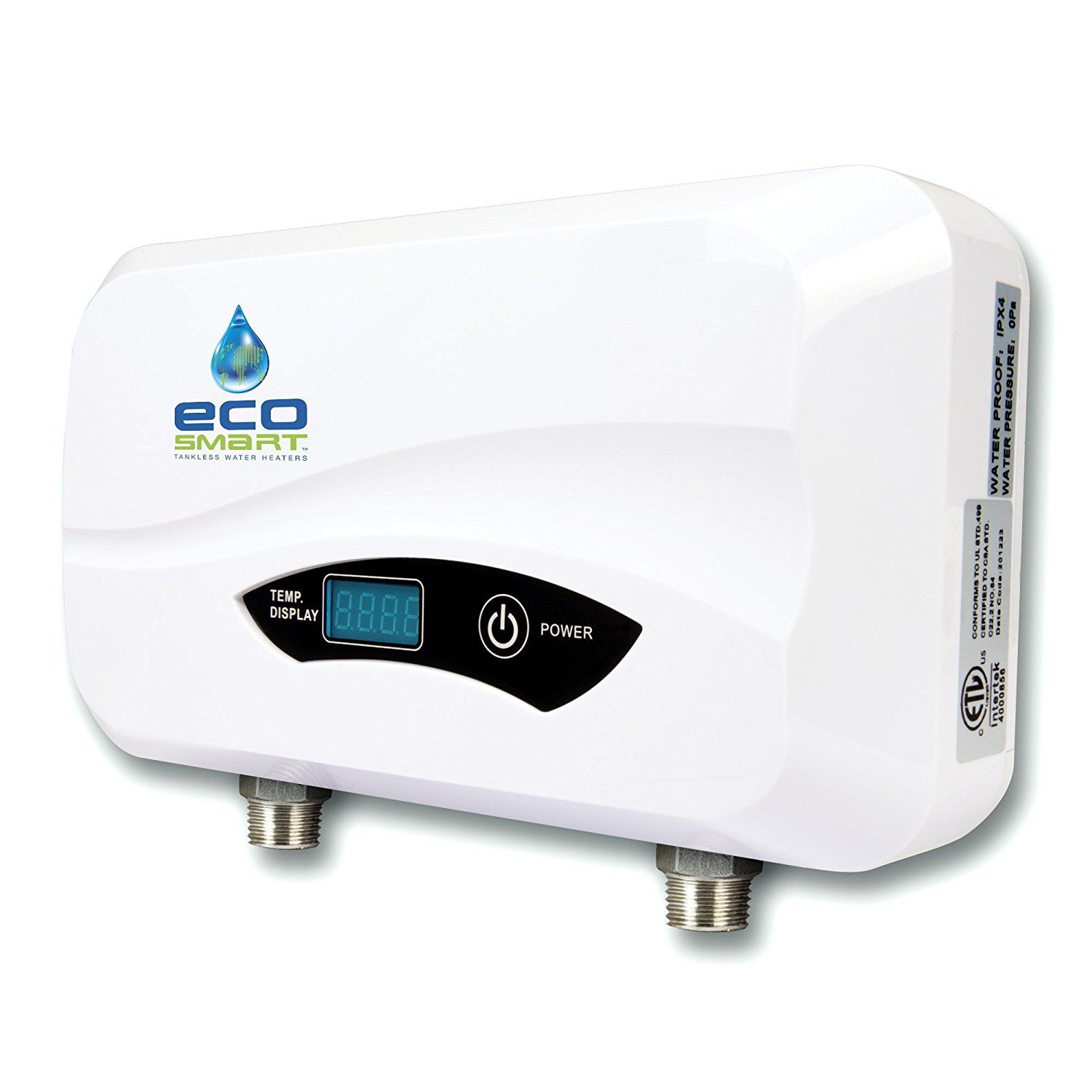 EcoSmart KW Point Of Use Electric Tankless Water Heater POU At The Home  Depot For Kitchen And Master Bathroom Shower)