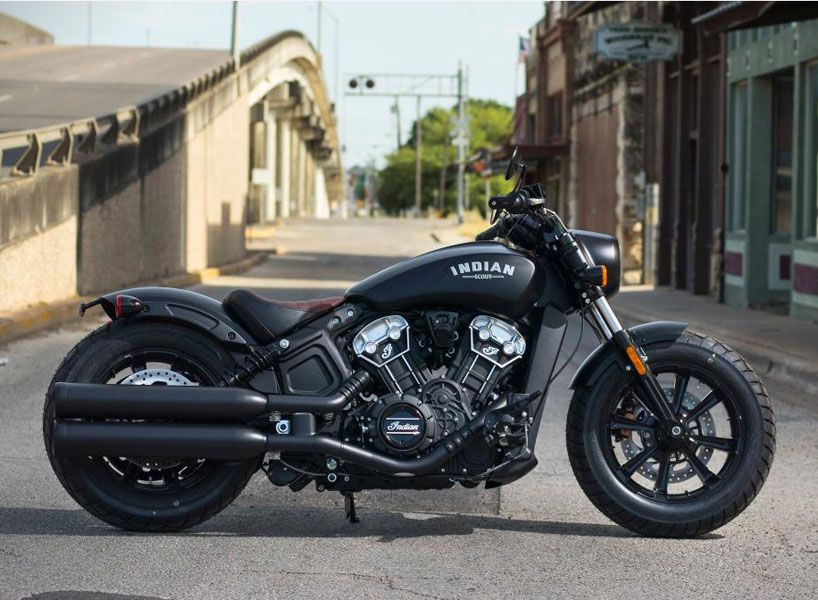 Indian Motorcycle S Scout Is A Blacked Out Street Bobber With