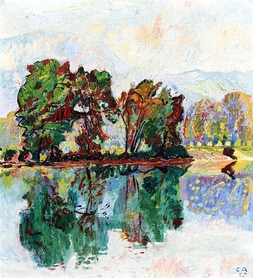 Landscape near the River Aare by @cuno_amiet #expressionism