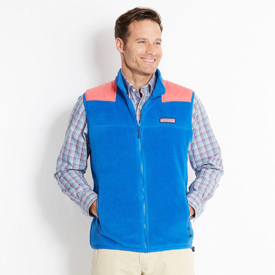 Vineyard vines fleece shep shirt vest menus jackets fall