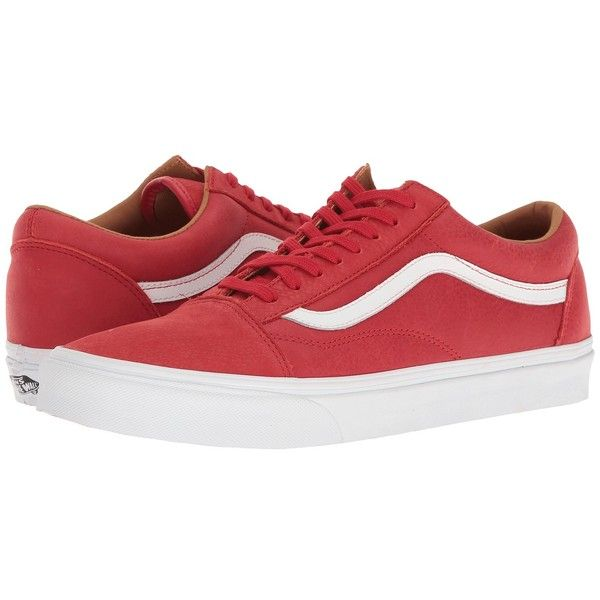Vans Old Skool ((Premium Leather) Racing RedTrue White