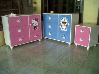 Jayo Batik Art Furniture Lemari Nakas Laci Hello Kitty