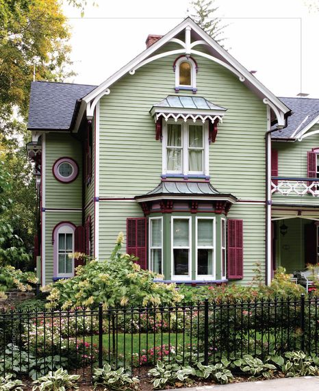Love The Colors Used On The Victorian Home · Painted LadiesVictorian House  InteriorsVictorian Style ...