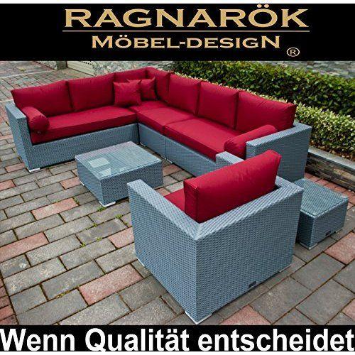Amazonde Hansson Polyrattan Lounge Sitzgruppe Gartenmöbel Garnitur