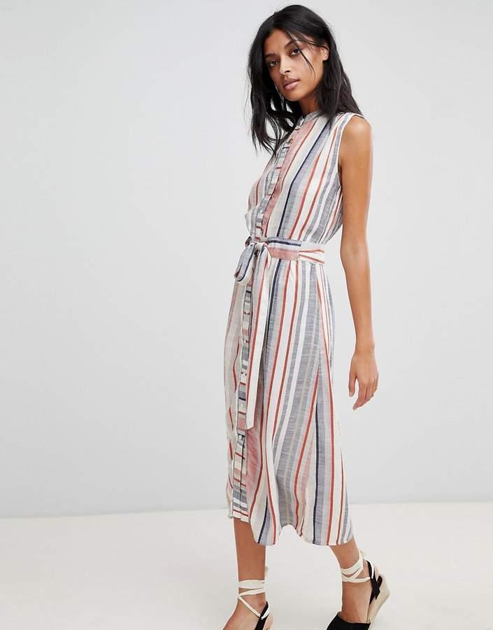 c7bf5b177c0 Warehouse Stripe Linen Shirt Dress