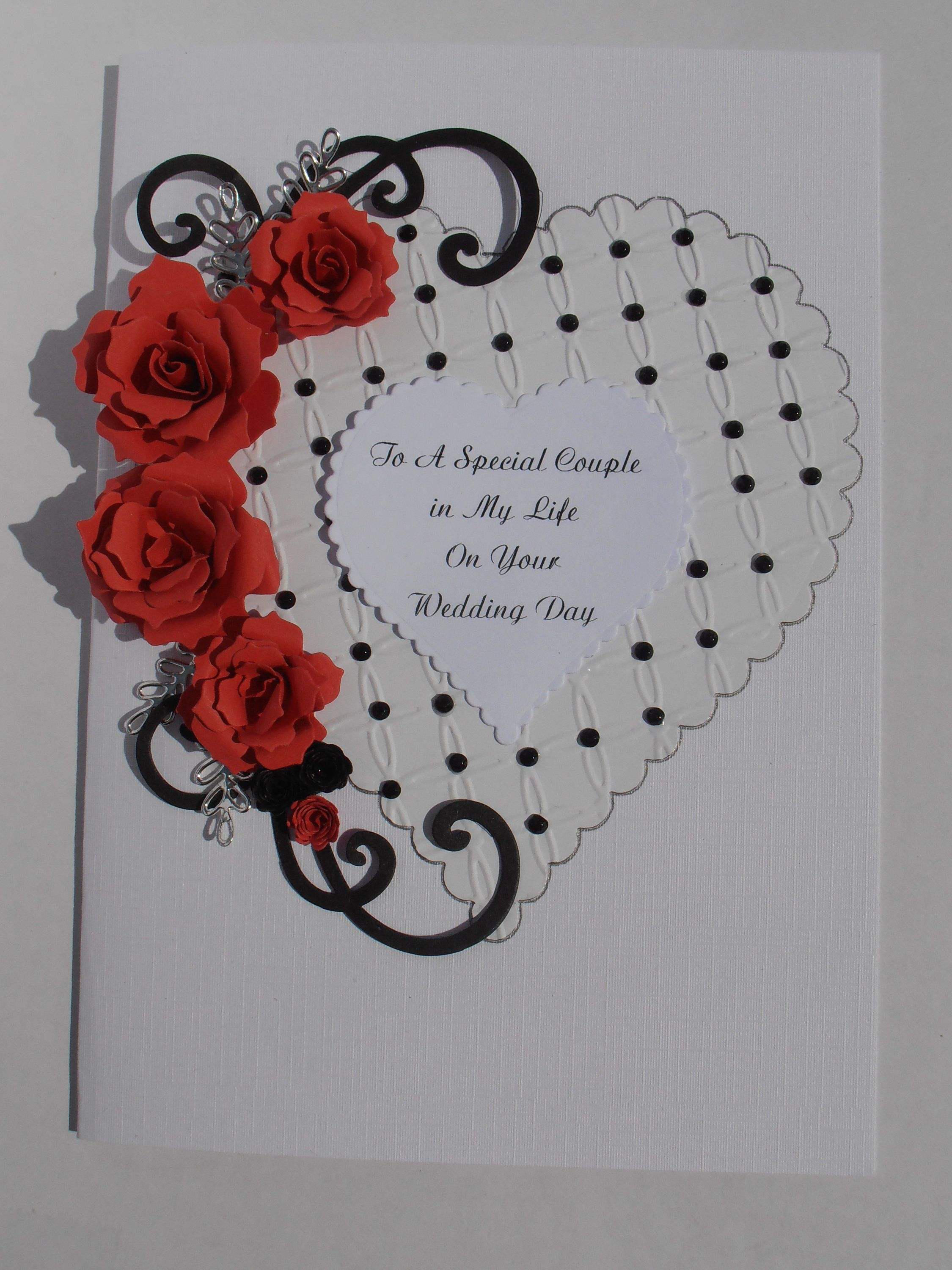 Handmade Personalised Gothic Style Birthday Anniversary Card Etsy Embossed Cards Anniversary Cards Wedding Anniversary Cards
