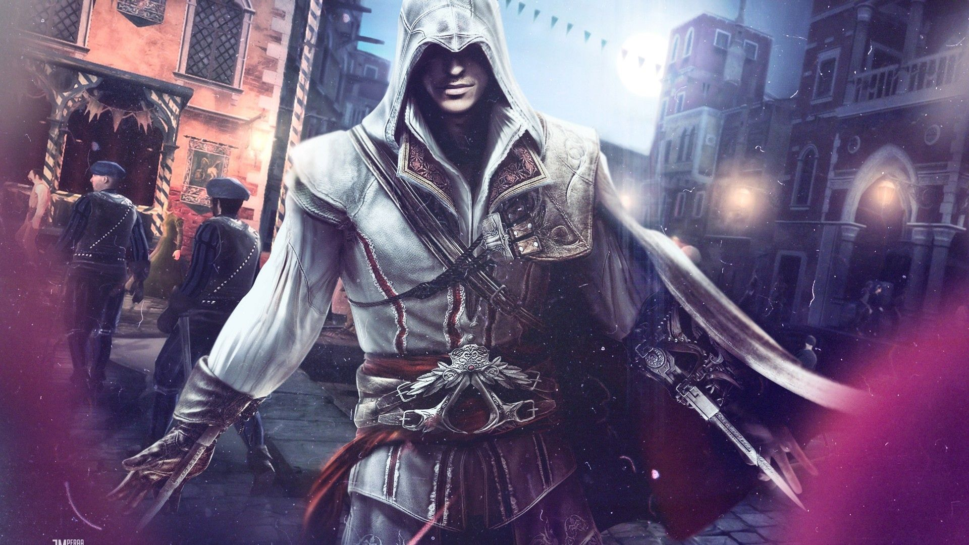 1920x1080 Wallpaper assassins creed 2, desmond miles