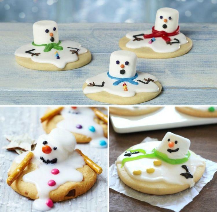 Kekse Backen Weihnachten.Backen Weihnachten Schmelzender Schneemann Kekse Platzchen