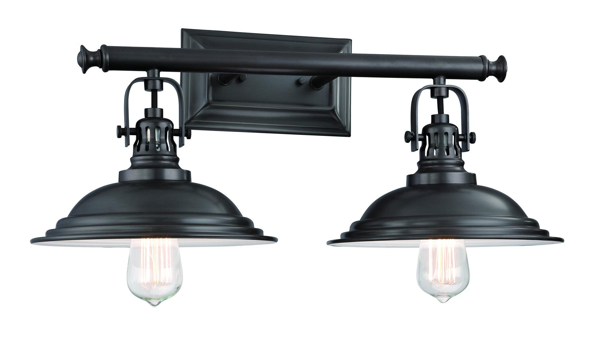 The Bowery 2 Light Vanity Fixture In 2020 Farmhouse Vanity Lights Vanity Lighting Vanity Light Fixtures