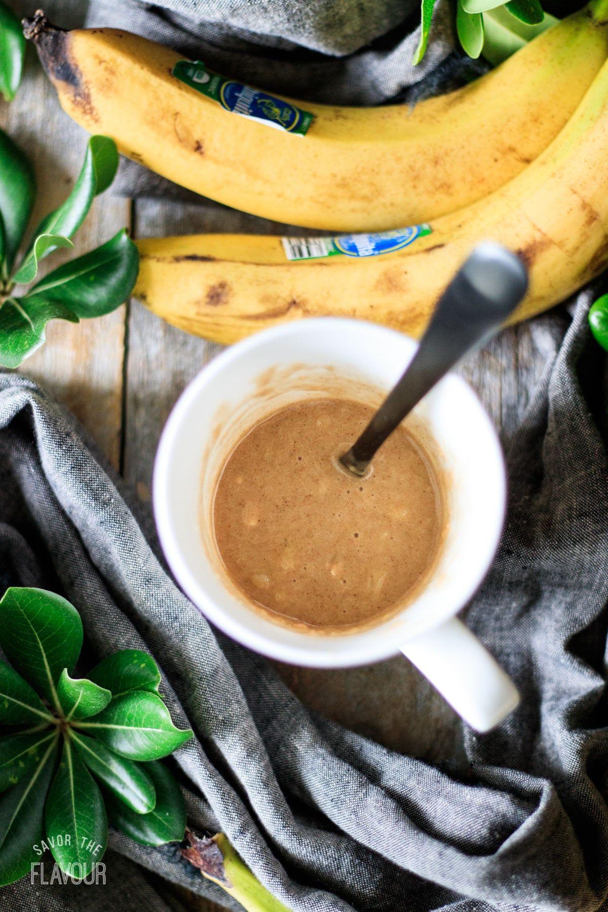 Banana Mug Cake | Savor the Flavour | Recipe in 2020 ...